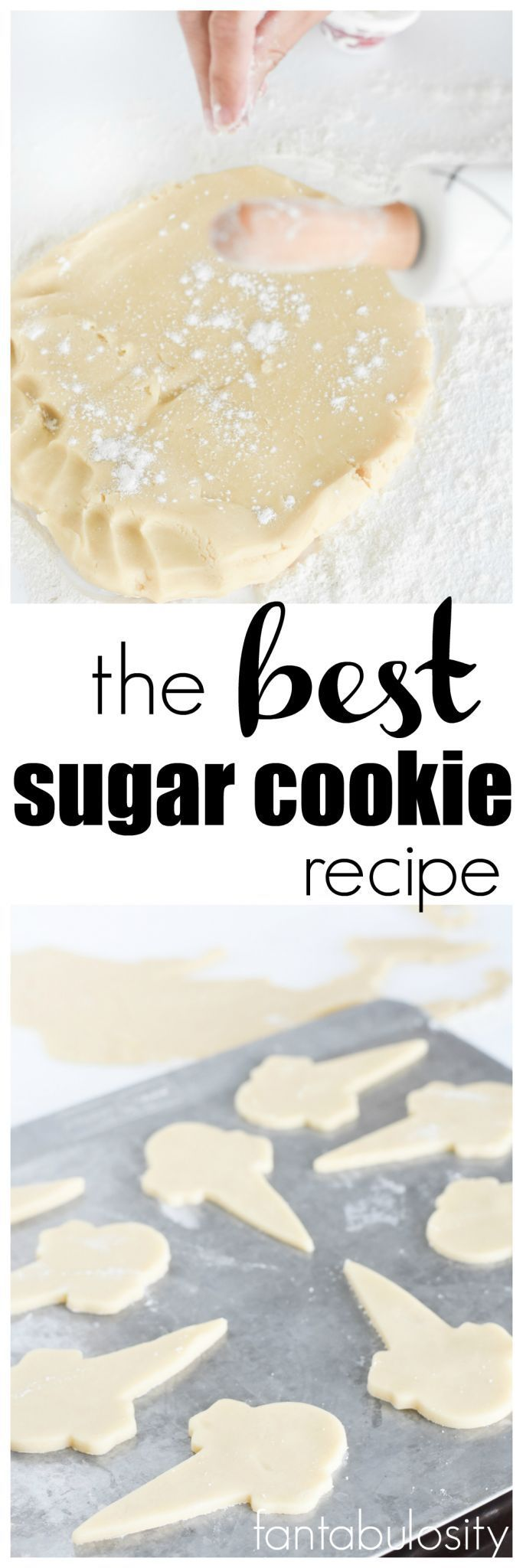 The BEST Sugar Cookie Recipe for decorating and eating. After baking, freeze them
