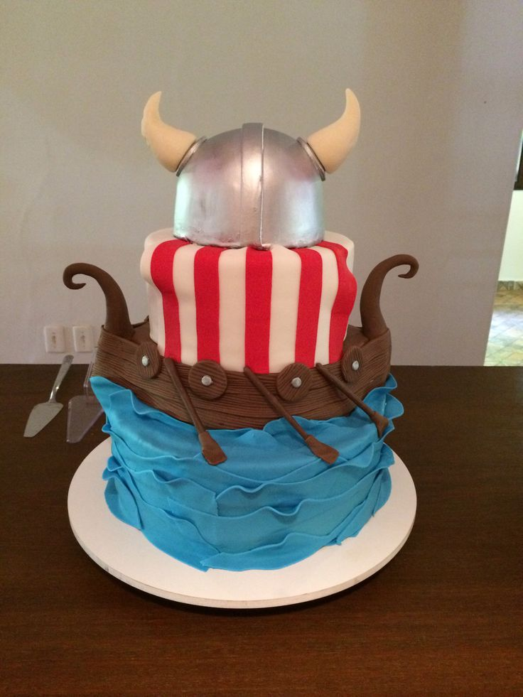 Viking Cake Viking Party First Birthday Bolo Viking