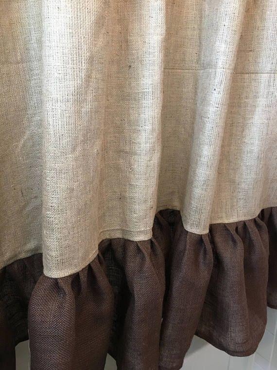 25 Best Ideas About Burlap Shower Curtains On Pinterest