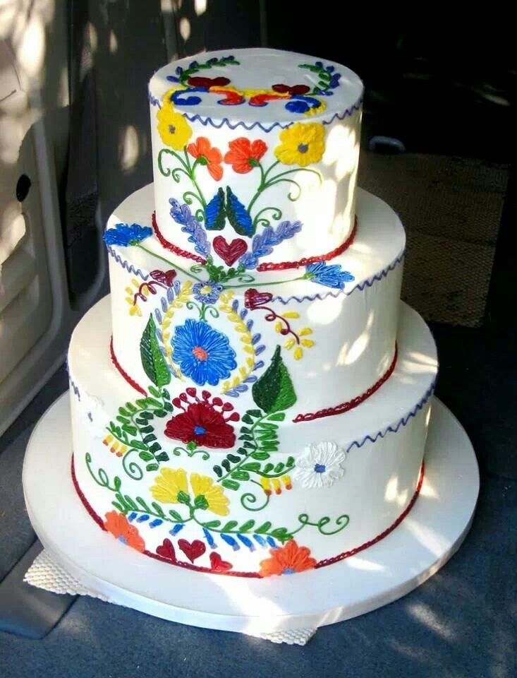 Beautiful Mexican style wedding cake... Cakes