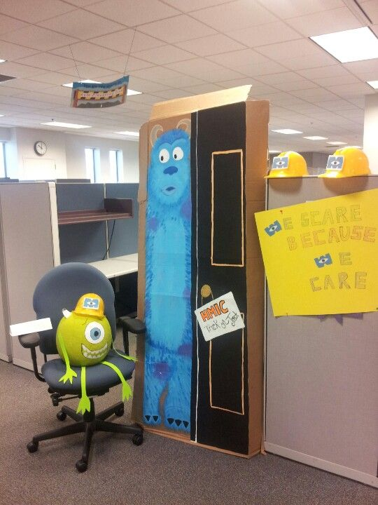Monsters Inc Decoration At The Work Place Artsy Fartsy