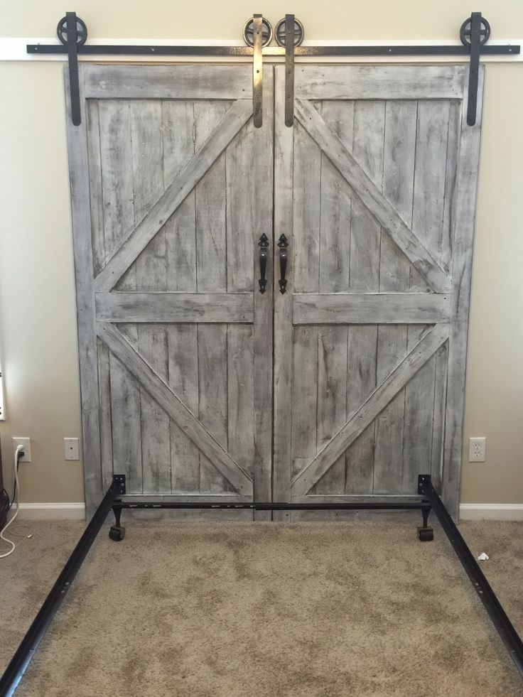 Cheaper And Better DIY Barn Door Headboard And Faux Barn