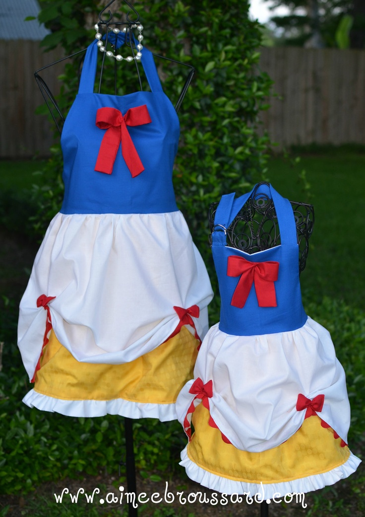 Snow White Inspired Mommy and Me Aproness (matching set
