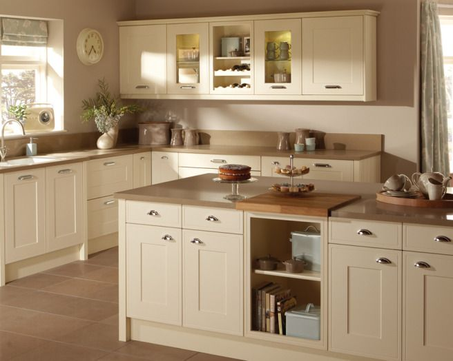 Photo Of Shaker Cream Taupe Premier Kitchens Kitchen With