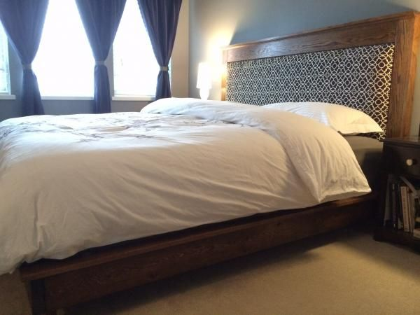 King Size Platform Bed And Headboard Do It Yourself Home