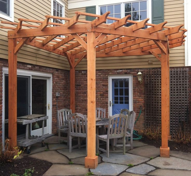 Pergola Pictures Attached To House Home Pinterest