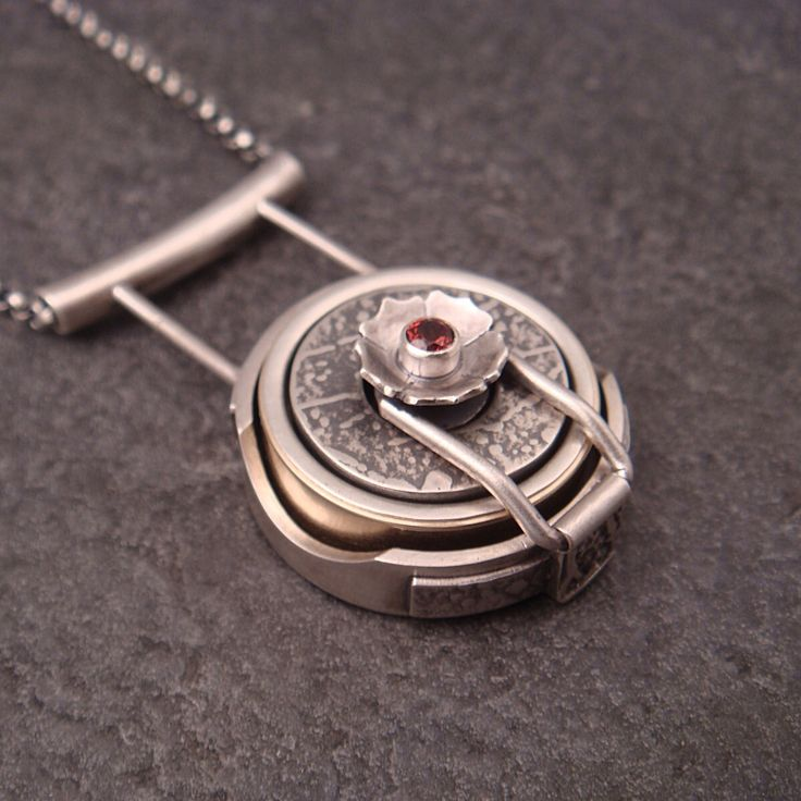 Sterling Silver Wedding Band Holder Pendant By Chuck