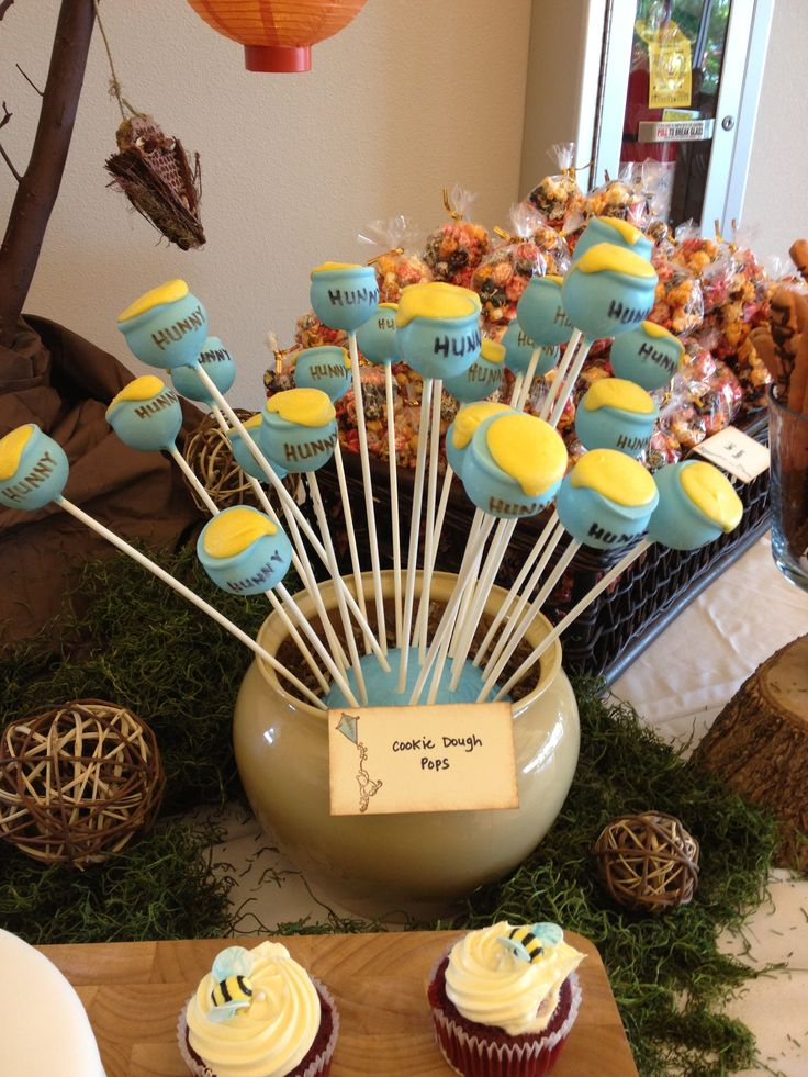 Honeypot Cakepops For Winnie The Pooh Baby Shower