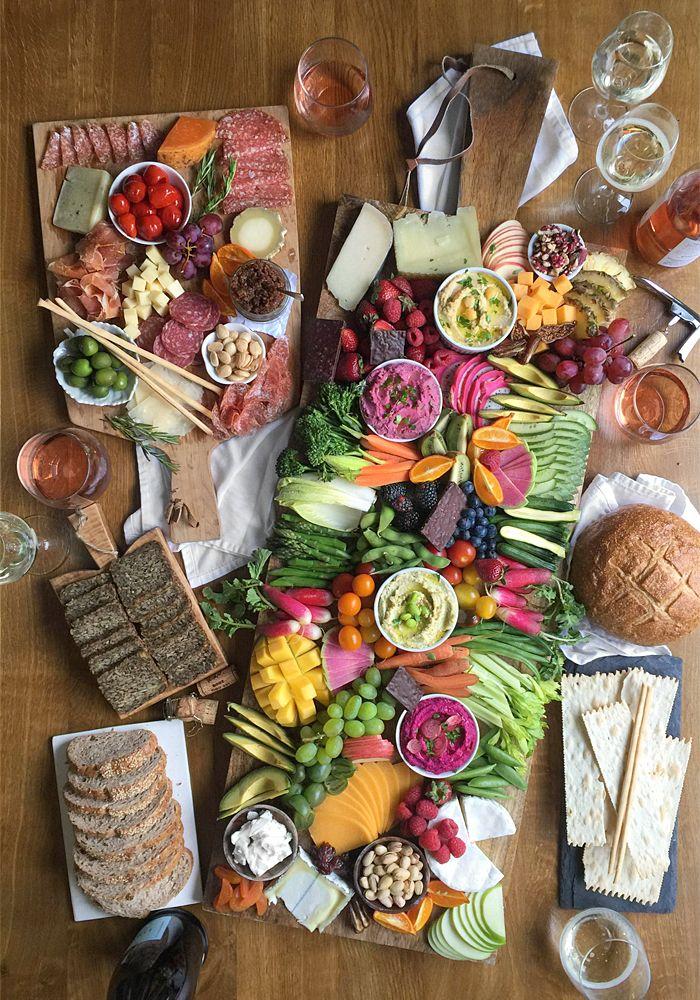 Crudite Hummus Dip Party Board Food Fresh And Healthy