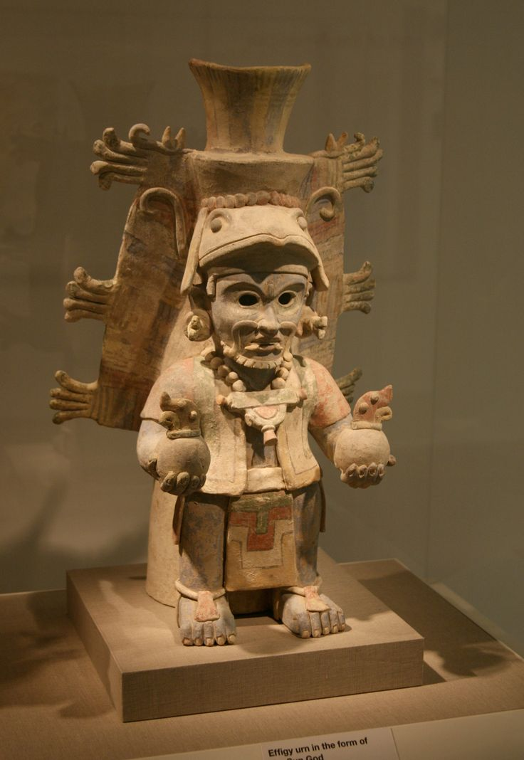 Ancient Mayan Effigy Urn In The Form Of Chac The Rain God