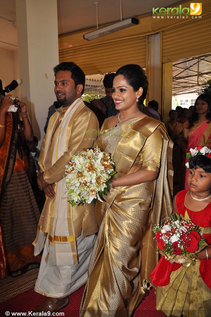 Gold Kanchivaram Christian Wedding Sarees Pinterest