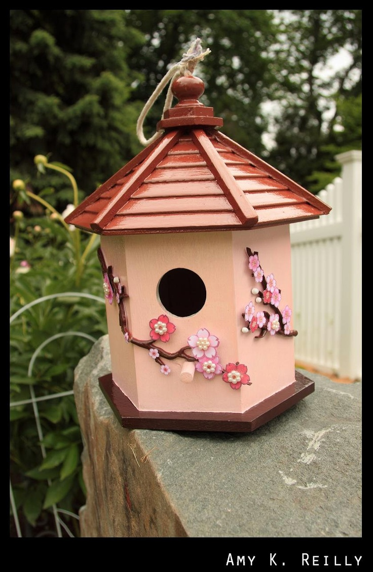 Japanese Pagoda Birdhouse 3500 Via Etsy Birdhouses
