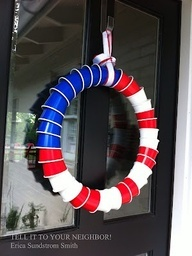 17 Best Ideas About American Flag Wreath On Pinterest