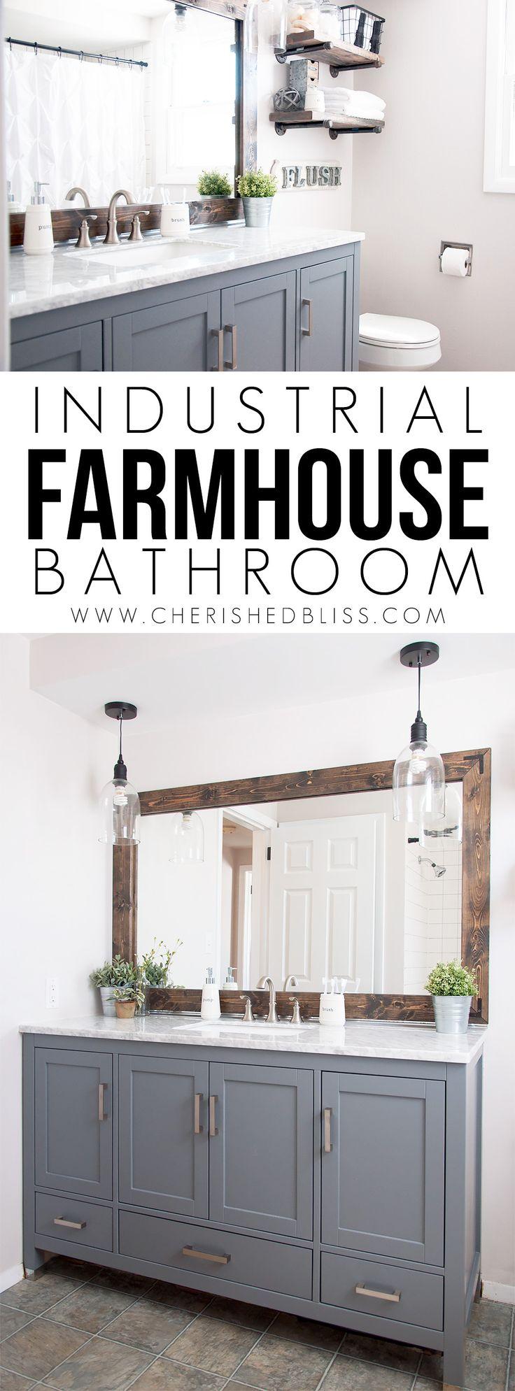 Industrial Farmhouse Bathroom Reveal Industrial