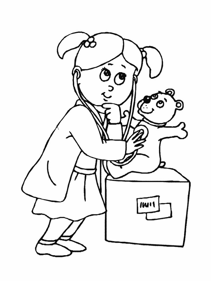 Free Coloring Pages Of Doctor Nurse Pinterest