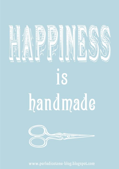 Quotes Happines Is Handmade Crafting Happy And Unique