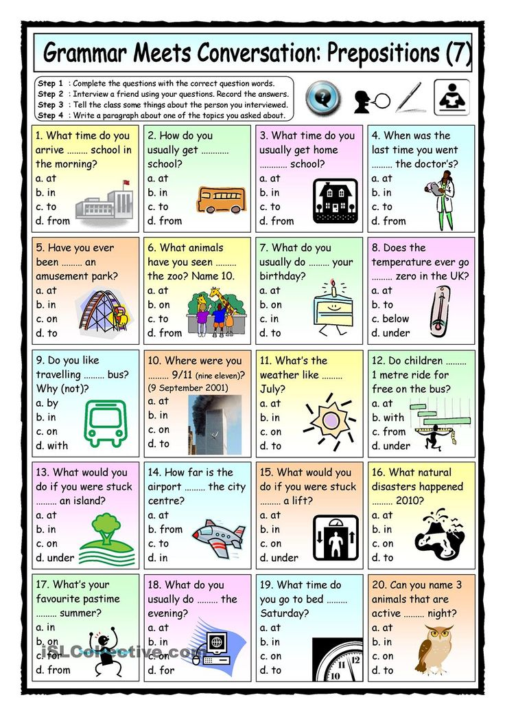 Grammar Meets Conversation Prepositions (7) Asking