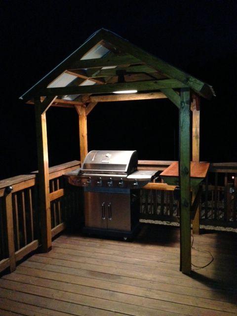 Grill Gazebo Decks Grill Area And Diy Grill