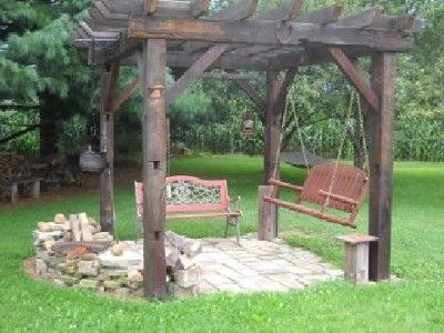 1000 Images About Pretty Rustic Pergolas On Pinterest