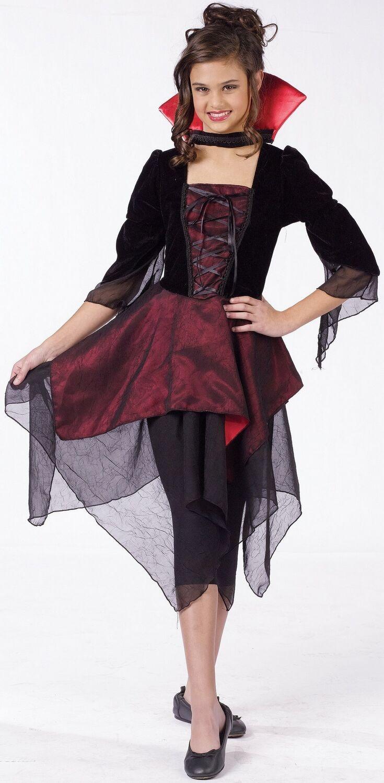Kids Lady Dracula Costume Kids Vampire Costumes