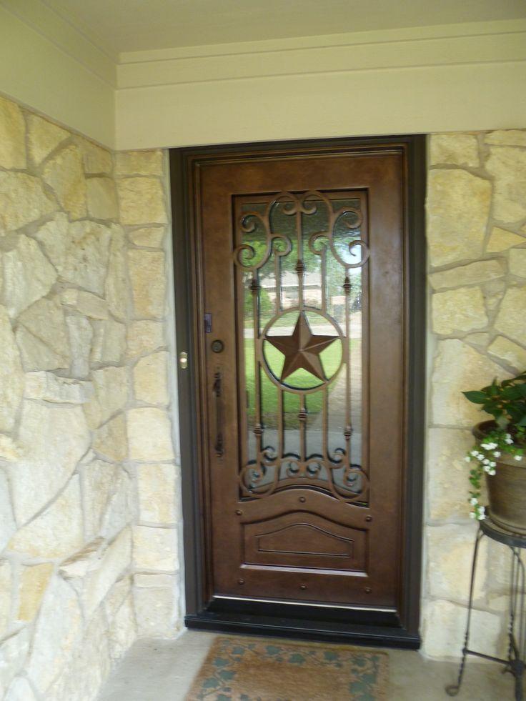 Texas Lone Star Iron Door Aaleadedglass Com Rustic Home