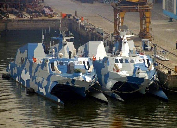 Chinese Navy Hubei Class Katamarans NAVYSHIPS And