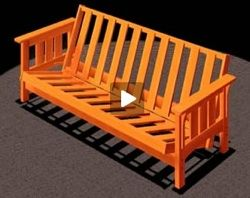 Futon Sofa Bed Craftsman Style Video Free