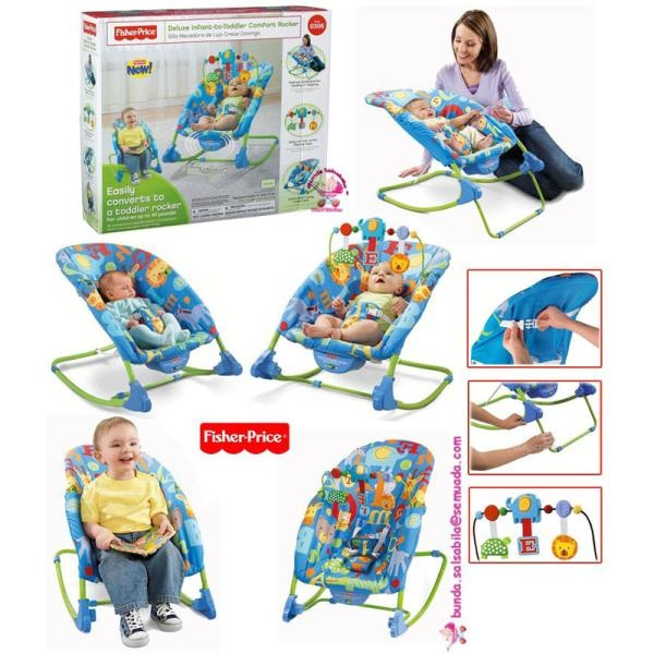 JUAL FISHER PRICE DELUXE INFANT TO TODDLER COMFORT