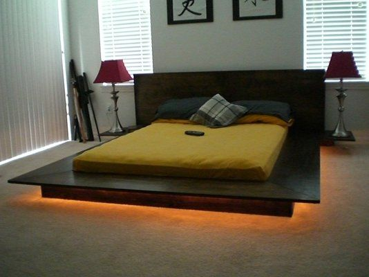 Japanese Influenced Platform Bed Low Profile And Modern