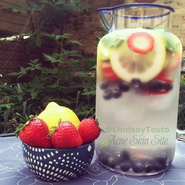 Acne Skin Site  The Power of Naturally Flavored Water
