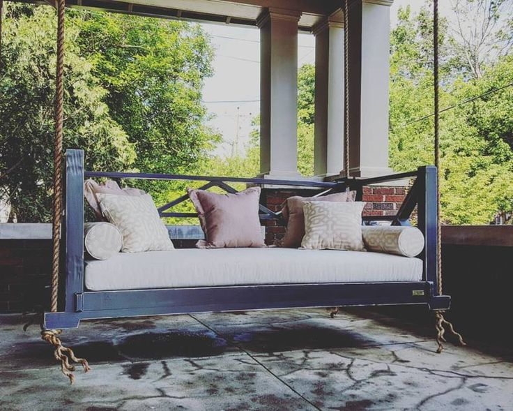 25+ Best Ideas About Hanging Porch Bed On Pinterest