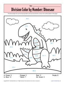 Monster Math Printables Sheets On Color By Number