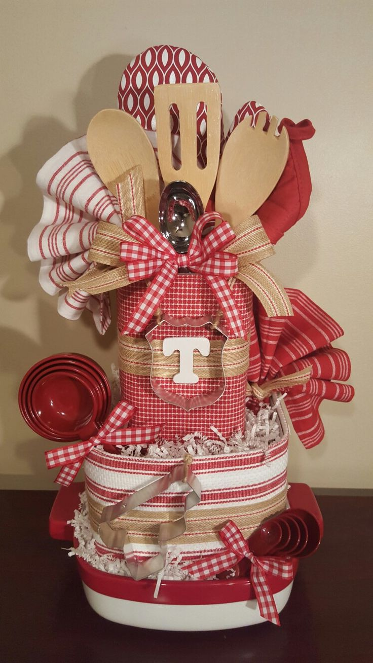 Kitchen towel cake, wedding shower gift, with law