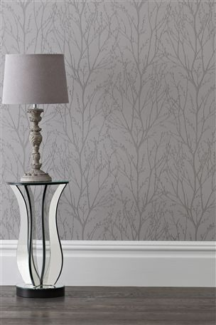 Buy Pewter Twigs Wallpaper from the Next UK online shop – copy colors with birch tree