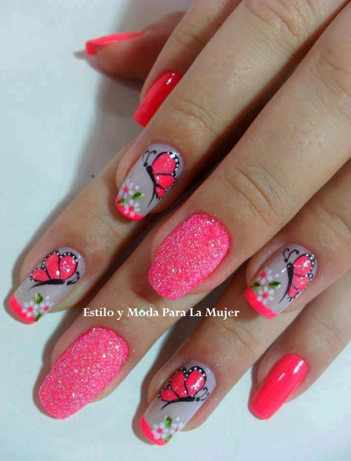 Mariposas Decoracion De Uas Pinterest