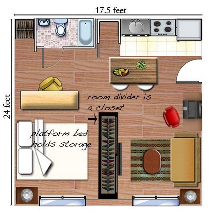 clever studio apartment