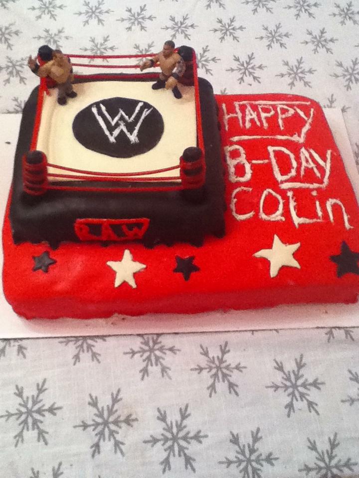 Colin S Wwe Birthday Cake Birthday Party Ideas