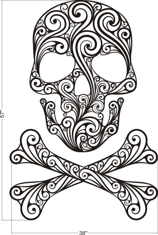Details about Sugar Skull, Skull Wall Decal, Skull