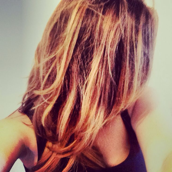 Californian Hair Ombr Brown Undertone And Blond Dip