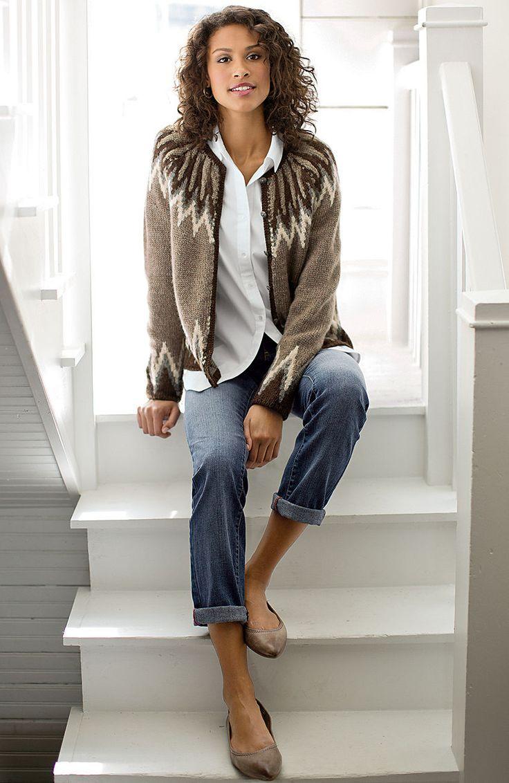 sweaters > vintage Fair Isle cardigan at J.Jill Cute