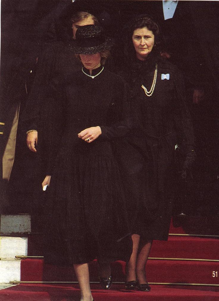 Princess Diana at Princess Grace's Funeral in Monaco P