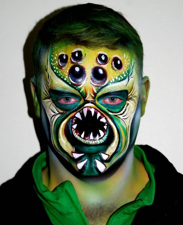 alien face paint Face Painting The less fun but equally