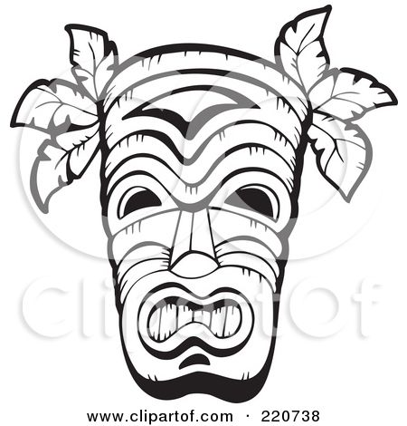 printable totem pole coloring pages polynesian tiki masks these gods