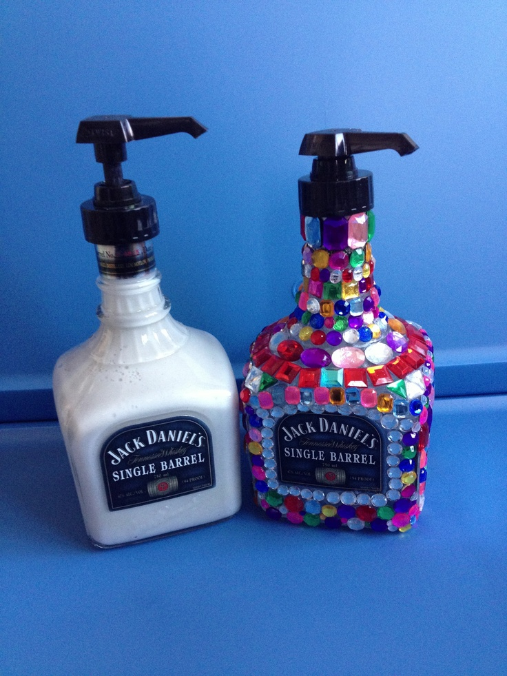 DIY alcohol bottle into a soap dispenser Crafting