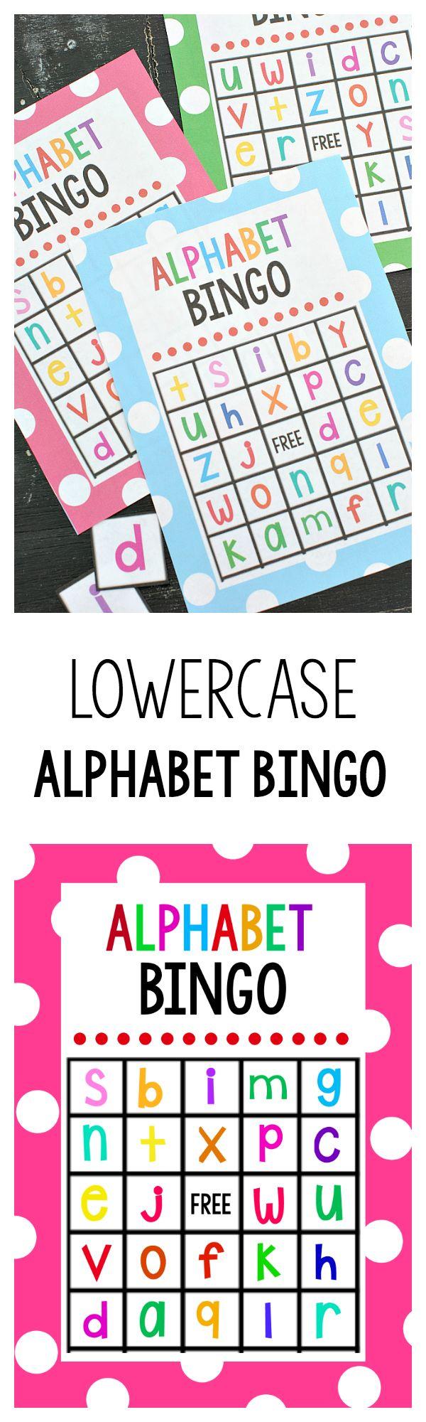 Lowercase Alphabet Bingo Game Bingo, Game and Alphabet