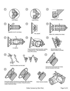 Camera Diagram (3 of 3) Money Origami Dollar Bill Art   Money Dollar Origami   Pinterest