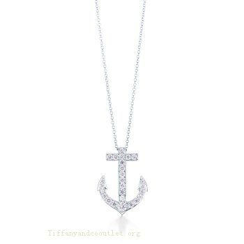 Tiffany Outlet Anchor Pendant With Zircons Anchor Pendant [ tp-52] – $50.99 : Ti