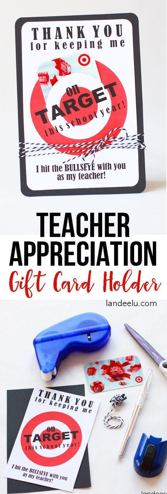 Teacher Appreciation Gift Idea Target Gift Card Holder
