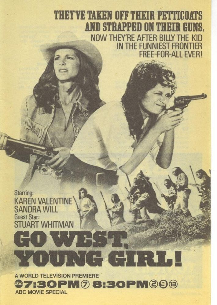 1978 KAREN VALENTINE TV GUIDE AD GO WEST YOUNG GIRLABC Tv
