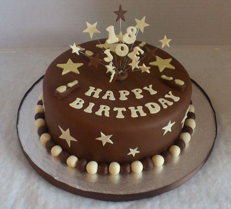 Chocolate Birthday Cake Ideas For Men Google Search